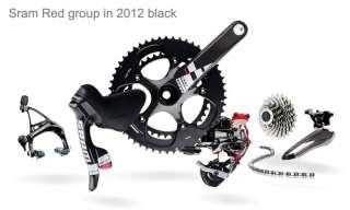 NEW 2012 SRAM RED BLACK CUSTOM 8PCS ROAD GROUP GROUPSET CARBON CERAMIC