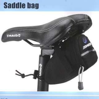 Cycling Bicycle Bike Saddle Outdoor Pouch Back Seat Bag Black