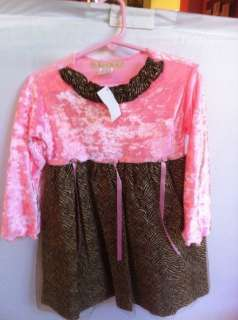 NWT Haute Baby boutique Holiday Panne Velvet tulle sparkly dress 18 24