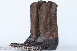 Nice full quill ostrich Justin mens cowboy boots 9.5 D, Made in USA