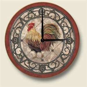 ROOSTER country WALL CLOCK art KITCHEN home decor  Kitchen