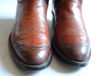 Womens Cowboy Boots Tony Lama   2 Tone   Retro Look Wingtips   7 C