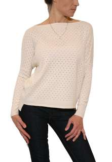 NEW Womens Vince Boat Neck Sweater in Ivory $285