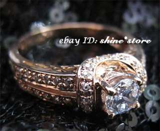 SOLID GOLD VICTORIAN VINTAGE FILAGREE WEDDING LADY DIAMOND RING