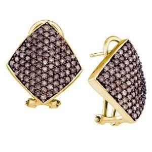 Ladies 10K Yellow Gold 1.90ct Brown Diamond Rhombus Shaped