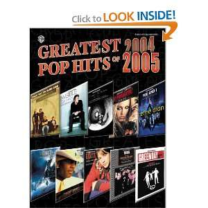 Pop Hits of 2004 2005 (0654979089568): Alfred Publishing: Books