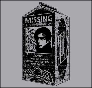 Women SYD BARRETT Pink Floyd Missing Lady T Shirt S 3XL