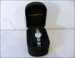 Ladies Stainless Steel Emporio Armani Genuine Diamond Designer Evening