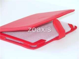 Red Leather Case Cover for  Nook 3G WiFi