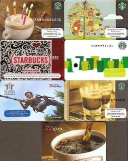 2011 Gift Card Starbucks Tim Hortons Coffee No $