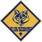 BOY CUB SCOUT OFFICIAL CUB SCOUTS JUMBO EMBROIDERED JACKET DISPLAY