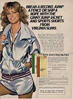 Virginia Slims Cigarettes Cheryl Tiegs Magazine Ad 1978