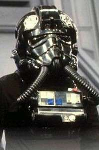 Star Wars Tie Fighter Pilot Helmet Silver Imperial Cogs