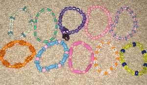 10 NEW mix beaded bracelets / anklets stretchy HANDMADE