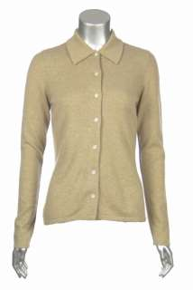 Sutton Studio Womens 100% Cashmere Button Front Shirt Sweater   PS, S