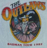 THE OUTLAWS Vintage Concert SHIRT 80s TOUR T RAGLAN Jersey SOUTHERN