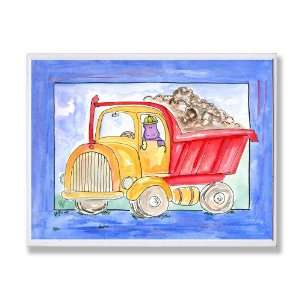 The Kids Room City Life Red Yellow Dump Truck Wall Plaque
