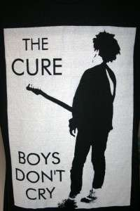 Vtg Retro The Cure Boys Dont Cry Black T   Shirt Indie Large