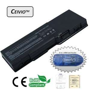 Capacity 6600mAH 9 Cell Li ion Laptop Battery for Dell Inspiron 6400