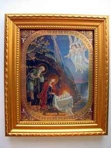 NATIVITY OF JESUS CHRIST, CHRISTMAS Framed Orthodox Icons Prayer