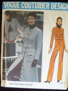 Vtg 60s 70s VOGUE COUTURIER patterns BELLVILLE Mod dresses jacket