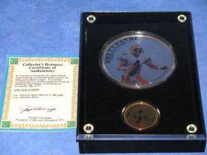 Quarterback Club Brett Favre Silver Gold Proof Coin Set
