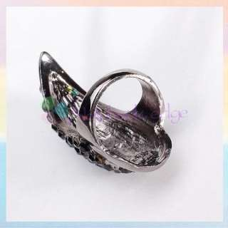 Punk Gothic Style Eagle Claw Armor Kunckle Long Finger Nail Ring US