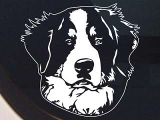 BERNESE MOUNTAIN DOG PORTRAIT DECAL  BERNER STICKER NEW