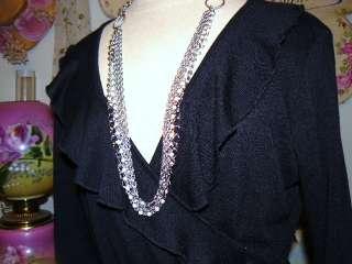 NEW Slinky Curvy *BLACK RUFFLE* CELEB STYLE DRESS XL