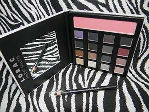 Palette 16 Eyeshadow Colors + Blush & Black Eye Liner Pencil