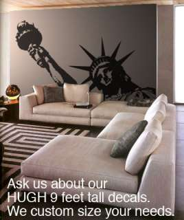 BIG Statue of Liberty Vinyl Wall Decal Sticker 8ftX5ft