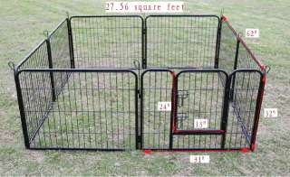 32 Heavy Duty Pet Playpen Dog Exercise Pen Cat Fence B
