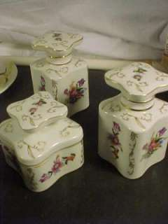 Thames Hand Painted Porcelain 3 Piece Dresser Set