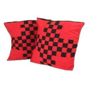 Alpaca wool cushion covers, Good Luck (pair)