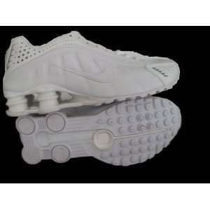 ... Mens Nike Shox R4 Sneakers All White 11  Sports ... dc73d4817