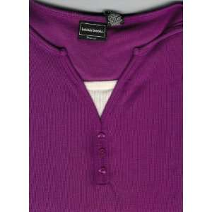 Bobbie Brooks Woman 2X (20W) Fushia Long Sleeve Shirt