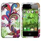 BIZARRE CARTOON FLOWERS HARD SHELL CASE COVER FOR APPLE IPHONE 4 4s 4G