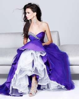 2012 New Style Purple Skirt Bride Bridesmaid Wedding Dress Gown Robe