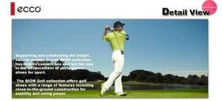 Brand New ECCO Biom Hybrid MENS Golf Shoes Brown Fanta US 7   7.5 EU