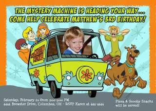SCOOBY DOO BIRTHDAY CUSTOM INVITATIONS   U print
