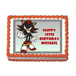 HEDGEHOG #2 WII DS GAME Edible Birthday Party Cake Image Topper Sonic
