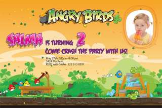 Personalized Angry Birds Birthday Invitations u print Custom Design