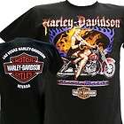 Davidson Las Vegas Dealer Tee T Shirt Pinup Girl BLACK MEDIUM #BRAVA1