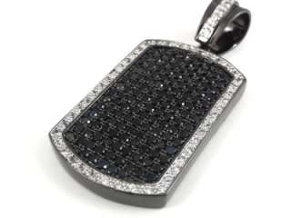 Mens Black Gold Finish Black & White/Black & Yellow Dog Tag Charm