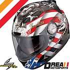 SCORPION EXO 1100 FREEDOM RED BLACK FULL FACE MOTORCYCLE HELMET DOT