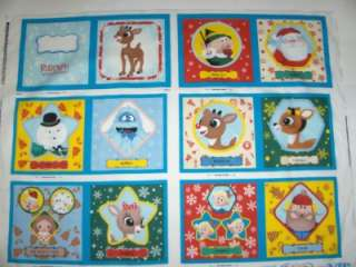 Rudolpjh the Red Nosed Reindeer Soft Story Book/Cheater Quilt Square
