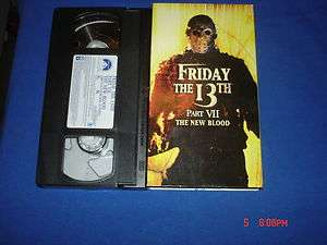 FRIDAY THE 13TH PART 7,THE NEW BLOOD,PARAMOUNT FILMS 2002 VHS!