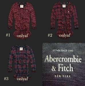NWT 2011 New Abercrombie Natasha Plaid Womens Shirt