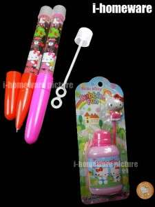 Kitty Sanrio Party Gift Toy Supply Blow Bubble Soap Blowers