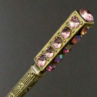 Item  1pc Austrian rhinestone crystal Antiqued hair stick
